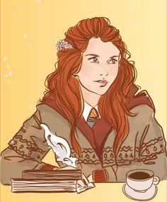 Harry Potter Girl, Lily Potter, Harry Potter Artwork, Harry Potter Books, Gina Weasley, Evans Art, Harry Potter Next Generation, Welcome To Hogwarts, Lily Evans