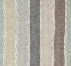 Welcome to the Vanessa Arbuthnott website. We're pleased to share our designer vision in fabrics for curtains, wallpapers, blinds, furniture, rugs & stair runners. Striped Upholstery Fabric, Chair Fabric, Striped Fabrics, Roman Blinds, Curtains With Blinds, Scandinavian Curtains, Vanessa Arbuthnott, Kitchen Curtains, Kitchen Windows