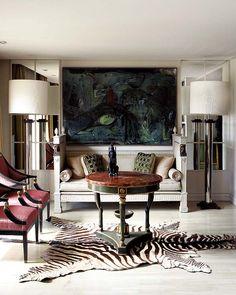 Living room / modern / interior design & decor / Neutral  & Zebra