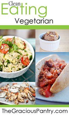 Clean eating vegetarian recipes.  http://www.calgary.isgreen.ca