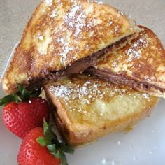 Nutella Stuffed Custard French Toast- I'm surprised we didn't see this in Europe. They love their Nutella!