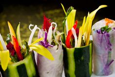Spring rolls with flowers