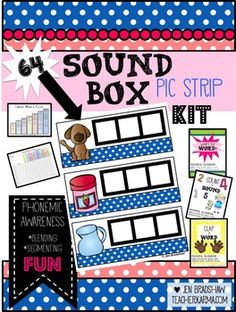 SOUND BOXES:Sound Box Pic Strips were created and intended to help students with the following skills:*Build phonological awareness by blending sounds into words*Build phonological awareness by segmenting words into sounds*Teach students to count the number of phonemes in a word *Encourage students to eventually better understand the concept of the alphabetic principle in decoding and spellingIt is great introducing, teaching, reteaching, extending or intervening on blending and segmenting…