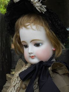 """~~~ Extraordinary 28"""" French Bisque Poupee ~~~"""