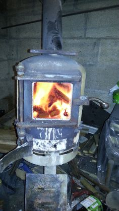 Gas bottle wood / log burner