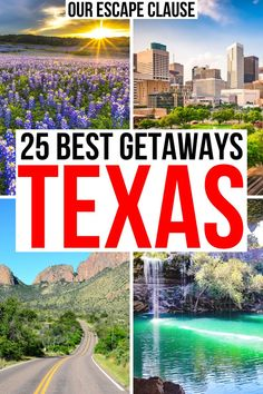 25 Best Weekend Getaways in Texas - Looking for the best weekend trips in Texas? From cool cities to national parks to adorable small towns in Texas' wine country, here's your Texas getaway bucket list! weekend getaways in texas Cool Places To Visit, Places To Travel, Places To Go, Travel Destinations, Hiking Places, Texas Travel, Travel Usa, Travel Europe, Texas Getaways Romantic