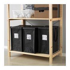 IKEA - DIMPA, Sac pour tri des déchets, 35 l, , Le couvercle du sac dissimule ce qu'il y a à l'intérieur, mais le tri reste facile car vous pouvez identifier le contenu grâce à ce que vous avez noté sur l'étiquette.Facile à porter grâce aux poignées latérales.Le plastique est un matériau résistant et facile à entretenir.