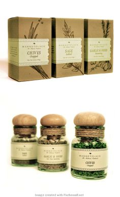 Marketplace by Briahnna Logan. Matching bottle and box spice #packaging PD                                                                                                                                                                                 More