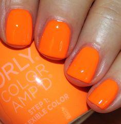 Retina-Searing neon orange neon orange nails, orange nail polish, acrylic n Orange Nail Art, Neon Orange Nails, Orange Nail Polish, Neon Nails, Mode Orange, Violet Pastel, Orange Tops, Fru Fru, Nail Designs Spring