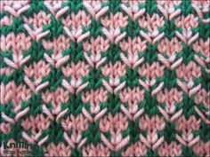 The Thorn stitch is an eight row repeat and is knitted in a multiple of four stitches plus one.