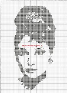 Audrey Hepburn x-stitch