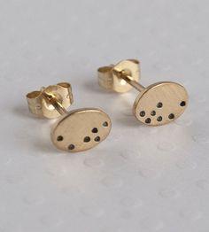 Mini Gold Egg Stud Earrings