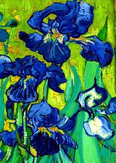 "translucentmind: "" Irises, Detail (1889) //Vincent van Gogh """