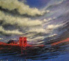 """Black sea"" 152x133 cm"