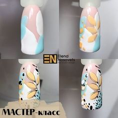 Diy Nails, Cute Nails, Art Deco Nails, Nail Art For Beginners, Almond Nails Designs, Nagellack Trends, Flower Nail Art, Manicure E Pedicure, Nagel Gel
