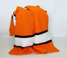Crochet Afghan Stadium Sports Blanket Throw by KnitKnacksCreations