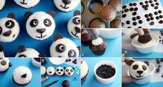 DIY Panda Cupcake. See this tutorial here