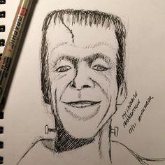Day Fred Gwynn as Herman Munster Herman Munster, I Love Him, My Love, Sketches Of People, Frankenstein, Inktober, My Favorite Things, Portrait, Art