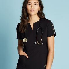 Modern Scrubs and Lab Coats for Men and Women by Jaanuu Scrubs Pattern, Stylish Scrubs, Beautiful Outfits, Cute Outfits, Medical Uniforms, School Pics, Med School, Scrub Tops, Nurse Scrubs