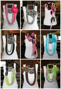 scarf collage- how to with t-shirts
