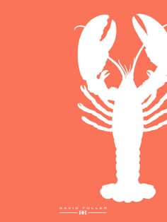 thefullerview:    lobster greeting card, david fuller