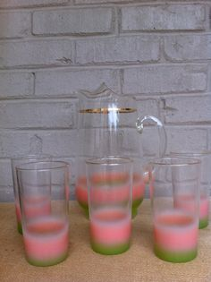 Lemonade set Blendo Vintage pitcher glasses