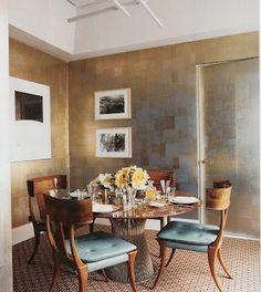 Modern klismos chair - 1000 Images About Metallic Wall Paint On Pinterest