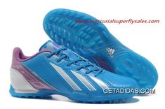cd05c0a41 Birthday Gift High-quality Materials Wear Resistant 2013 Adidas Adizero F50  SYN Messi III TF Blue White TopDeals