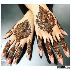 Henna by Jas. Design inspired by a picture selected by S. Henna by Jas. Design inspired by a picture selected by Satveer details unknown. Offering FREE c. Mehandi Designs, Henna Art Designs, Modern Mehndi Designs, Mehndi Design Photos, Wedding Mehndi Designs, Mehndi Designs For Fingers, Latest Mehndi Designs, Indian Henna Designs, Mehndi Images