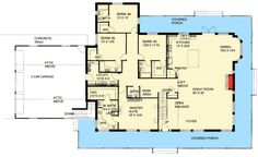 I like the idea of the large great room including kitchen, living, and eating areas