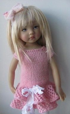 Hand Knit Dress for 13'' BJD Helen Kish Diana Effner | eBay. Ends 6/17/14. From Russia.