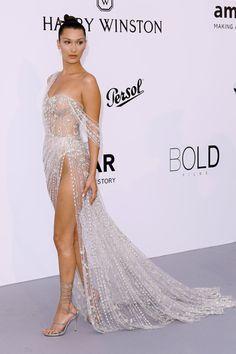 bella hadid source — Bella Hadid attending the amFar Gala In Cannes,...