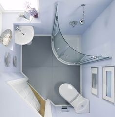 bathroom is small, corner shower would be a great replacement for the bathtub eventually