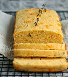 Hungry Couple: Cheddar and Thyme Cornbread Loaf