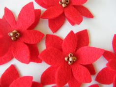 A cute little gift for a cute little girl... For the poinsettia clips, I just cut 2 'flower' shapes and layered them. (imperfect is pe...