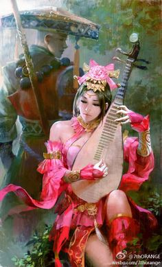 Asian art and illustrations  Asian fantasy art by The7thorange