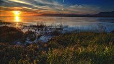 Skyscapes Grass Sunset Landscapes Ocean Nature Wallpaper Hd For Pc Desktop