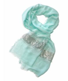 Another great find on #zulily! Baby Blue Sequin Scarf by East Cloud #zulilyfinds