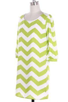 $29.99 Womens Small Medium or Large Dress * NEW * Kiwi Chevron Pattern * Zig Zag *