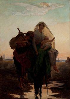 Fuga para o Egito Almeida Júnior 1881 Museu Nacional de Belas Artes, Rio de Janeiro
