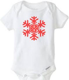 Hey, I found this really awesome Etsy listing at https://www.etsy.com/listing/208719164/christmas-snowflake-monogram-onesie-cute