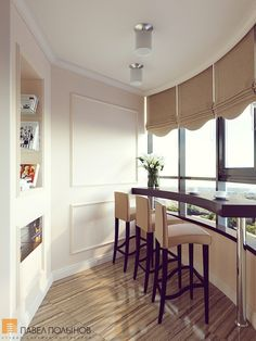 Smart Idea of Turning a Small Balcony Into a Mini Cafe and Bar Small Space Living, Small Spaces, Porches, Best Interior, Interior Design, Outside Patio, Loft Interiors, Pretty Room, Balcony Design