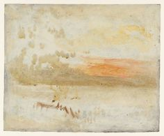 Joseph Mallord William Turner, 'Sunset Seen from a Beach with Breakwater' c.1840-5