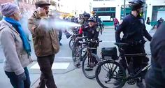 WATCH: Seattle cop pepper-sprays teacher directly in face for walking too close