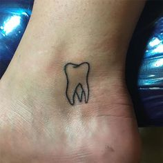 Image result for simple tooth tattoo