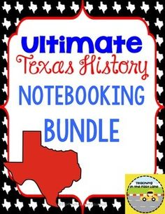 This+HUGE+bundle+is+full+of+all+the+Texas+History+Notebook+Kits+from+the+Teaching+in+the+Fast+Lane+store.+  Included+in+this+product: Notebook+Start-Up+Kit Texas+Maps+Notebook+Kit Regions+of+Texas+Notebook+Kit Native+Americans+of+Texas+Notebook+Kit European+Explorers+Notebook+Kit Missions+of+Texas+Notebook+Kit Colonization+of+Texas+Notebook+Kit Texas+Revolution+Notebook+Kit Republic+of+Texas+Notebook+Kit Annexation+of+Texas+Notebook+Kit Statehood+Notebook+Kit Civil+War+in+Texas+Notebook+Kit…