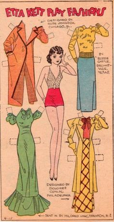 1934 Etta Kett Play Fashions paper doll