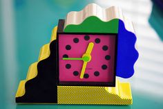 NEOS Lorenz Post Modern Memphis Milano Inspired Clock by Sowden du Pasquier 80s   eBay