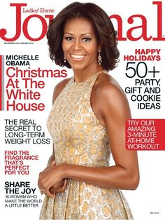 First Lady Michelle Obama December/January Ladies Home Journal |
