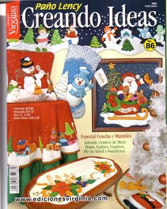 Creando Ideas Paño Lency N86 Book Crafts, Hobbies And Crafts, Crafts To Make, Crafts For Kids, Christmas Books, Christmas Crafts, Xmas, Painted Books, Christmas Paintings